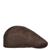 Soft Suede Leather Classic Flat Cap Brown