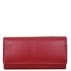 Womens Envelope Style Leather Purse Adelaide Red 1