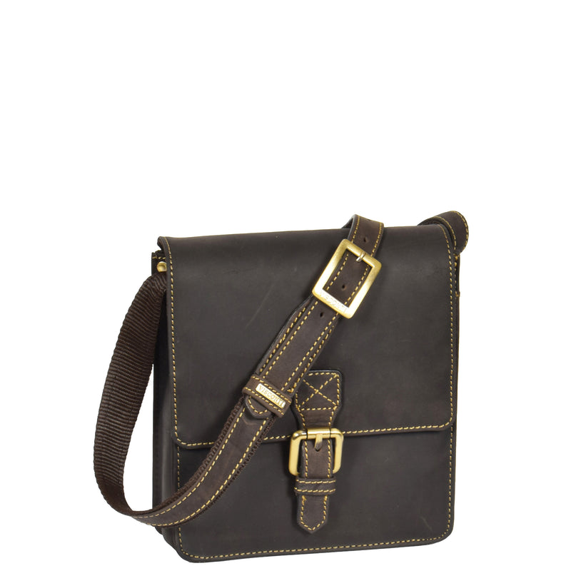 flap over leather bag