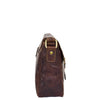 Womens Classic Cross Body Shoulder Bag Hazel Brown 3