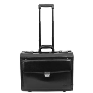 Exclusive Leather Pilot Case Laptop Bag Chester Black 2