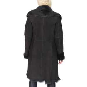ladies suede sheepskin fur jacket