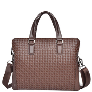 braided leather briefcase