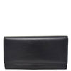 Womens Envelope Style Leather Purse Adelaide Black 1