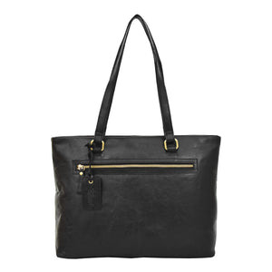 Womens Leather Classic Shopper Bag Sadie Black 1