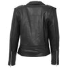 Womens Leather Biker Brando Style Jacket Holly Black 1