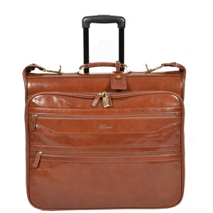 large leather suitcarrier