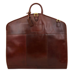 Luxury Leather Slimline Garment Carrier Keswich Brandy 2