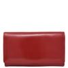 Womens Envelope Style Leather Purse Mary Red 1