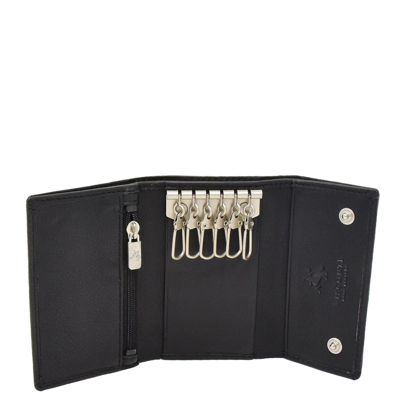 Trifold Leather Keys Wallet HL8711 Black 2