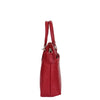 Womens Leather Small Tote Cross Body Bag Everly Red 2