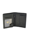 Mens Small Bifold Leather Wallet Venus Black 3