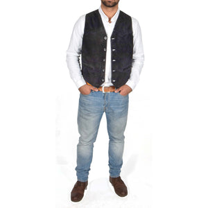 black soft suede waist coat