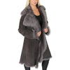ladies sheepskin fur jacket