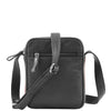 Mens Leather Cross Body Small Flight Bag Parkham Black 2