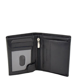Mens Soft Leather Small Bifold Wallet Brisbane Black 3