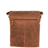 Mens Leather Cross Body Flight Bag Pouch Evan Tan back
