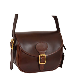 leather cartridge bag brown