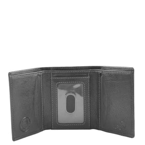 Mens Trifold Leather Credit Card Wallet Titus Black 3