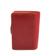 Womens Soft Leather Organiser Purse Lyon Red Multi 2