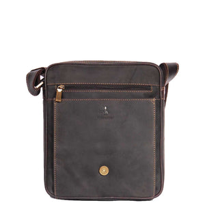 magnetic flap over bag brown