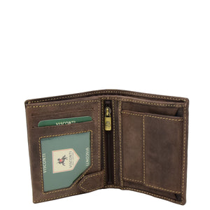 Mens Bifold Vintage Leather Wallet Vienna Brown 3