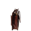 zip opening leather wrist bag