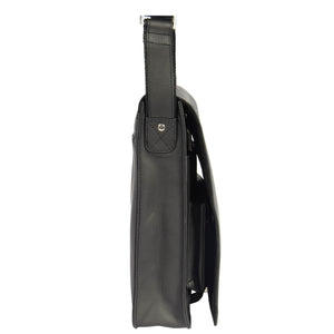 leather flap over bag for mens
