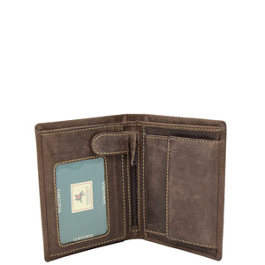 Mens Single Fold Real Leather Wallet Zurich Brown 3