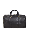 Leather Holdall Small Size Barrel Shape Duffle Bag Athens Black back