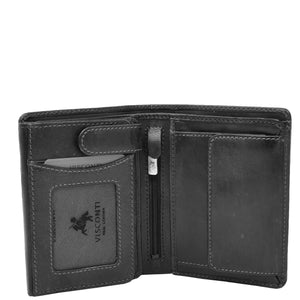 Mens RFID BiFold Leather Wallet Taunton Black 3