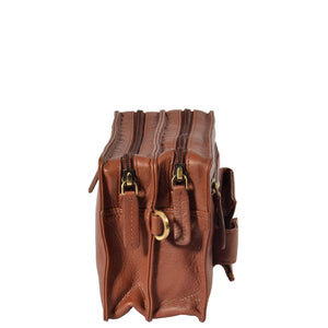 leather wrist bag with a detachable strap