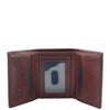Mens Trifold Leather Credit Card Wallet Titus Brown 3