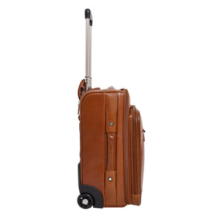 Exclusive Leather Cabin Size Suitcase Kingston Tan 3