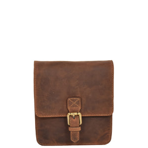 flap over magnetic leather bag