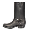 western heel leather boots