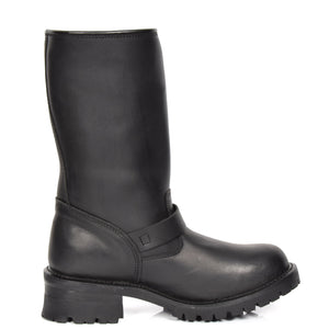 leather wellington style boots