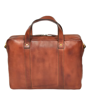 slim line leather briefcase