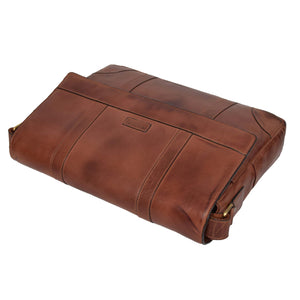 mens leather organiser satchel