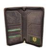 Vintage Leather Travel Documents Wallet Marlo Brown 5