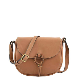 Womens Soft Leather Small Cross Body Bag Hannah Tan 2