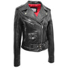 Womens Leather Biker Brando Jacket Kate Black 2