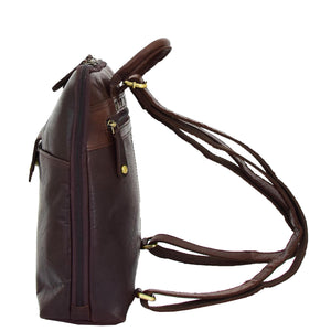 Womens Real Leather Small Size Backpack Molly Brown 2