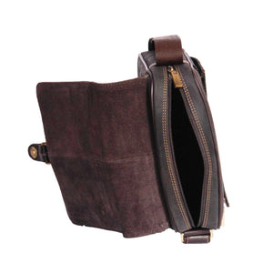 bag for mens with zip top compartment