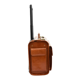 Exclusive Leather Pilot Case Laptop Bag Chester Cognac 2