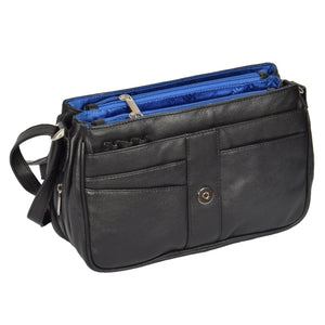 ladies leather bag with organiser sections