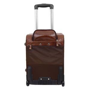 Exclusive Leather Cabin Size Suitcase Kingston Brown 1