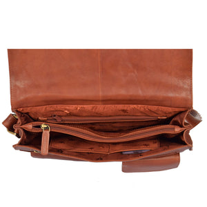 womens leather bag with middle zip divider