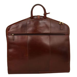 Luxury Leather Slimline Garment Carrier Keswich Brandy 1