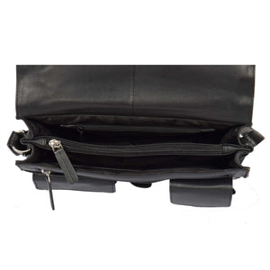 womens bag with a middle zip divider